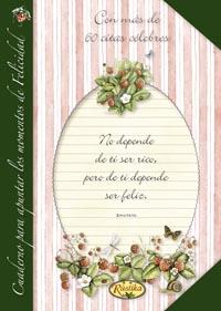 Cuaderno para apuntar los momentos de felicidad