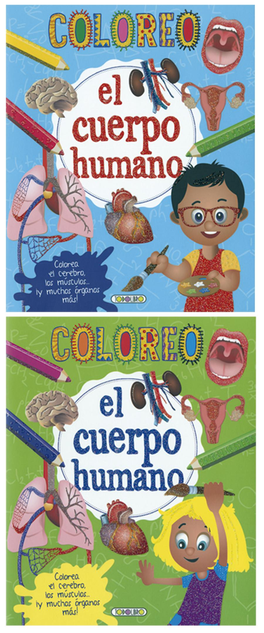 Coloreo el cuerpo humano (2 títulos)