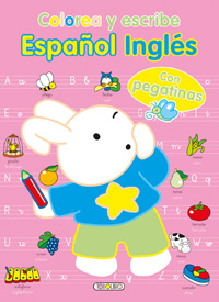 Colorea y escribe español inglés