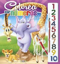 Colorea por números animales