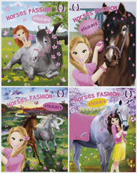 Horses Passion stickers (4 títulos)