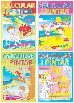 Calcular i pintar (4 títulos)