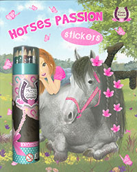 Horses passion Sticker lapiceros