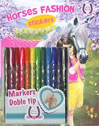Horses passion Sticker rotuladores