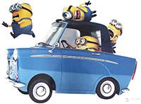 Poster Minions car 50X70 cm