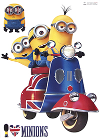 Poster Minions scooter 50X70 cm
