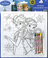 Puzle coloreable 20 piezas. Frozen