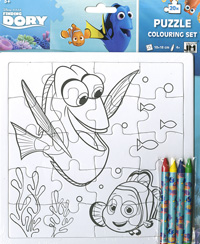 Puzle coloreable 20 piezas. Buscando a Dory